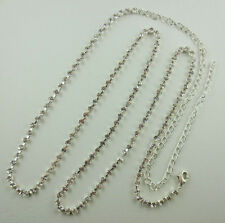 Silver Plated Crystal Rhinestone Chain Belt 38 Inches Long