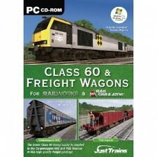 Class 60 & Freight Wagons Add On for Rail Simulator, RailWorks 1 & 2 PC NEW SEAL