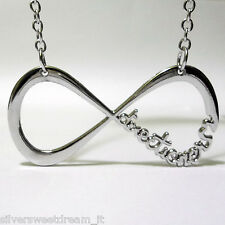 COLLAR ONE DIRECTION COLGANTE DIRECTIONER INFINITY ACERO INFINITO 1D NECKLACE