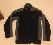 Mens Ben Sherman Black & Grey Zip Top / Cardigan - Small
