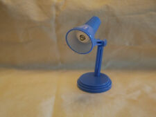 L035Dollhouse Standing Table LED Lamp changeable battery Light Blue Miniature1:6