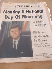 Monday a National Day of Mourning for Kennedy - Chicago Sun Times 11-24-1963