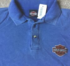 Harley Davidson Bar and Shield Blue Polo Shirt NWT  Men's Large