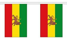 ETHIOPIA WITH LION 3 METRE BUNTING 10 FLAGS flag 3M ETHIOPIAN AFRICAN RASTA