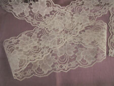 "6 YARDS,Ivory Lace,4""wide,APPAREL,BOWS,SACHETS,LACE FOR INVITATIONS,MASON JARS"