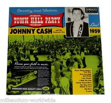 """SEALED & MINT - JOHNNY CASH - TOWN HALL PARTY LIVE 1959 − 12"""" VINYL LP RECORD"""