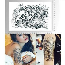 1 Sheet Playing Cards Skull Temporary Tattoo Decals Body Art Waterproof Paper