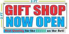 GIFT SHOP NOW OPEN Banner Sign NEW Larger Size Best Quality for the $$$