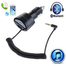 Car Bluetooth A2DP 3.5mm AUX Stereo Receiver Adapter USB Charger for Iphone 6 5