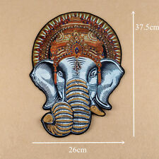 Large Embroidery Elephant Beaded Sew On Patch Badge Bag Fabric Applique Craft