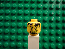 Lego mini figure 1 Yellow head with face and black hair and beard #68