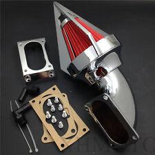 Chrome Cone Spike Air Cleaner kit intake to All Kawasaki Vulcan 2000 Classic LT