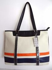 Women's Off-White Large Canvas Tote Shoulder bag Beachbag Purse Sale