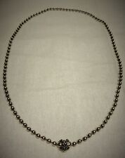 BWL Bill Wall Leather 24 inch medium 4 mm sterling ballchain king necklace baby