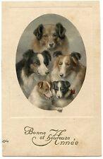 PORTRAIT MéDAILLON DE CHIENS. DOGS. HUNDE.