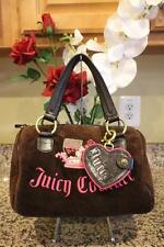 JUICY COUTURE Brown & Pink Crown Velvet Handbag (pu110