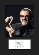 GEORGE MICHAEL #1 A5 Signed Mounted Photo Print - FREE DELIVERY