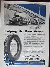 1918 United States Tires Nobby Cord For Trucks Military Advertisement