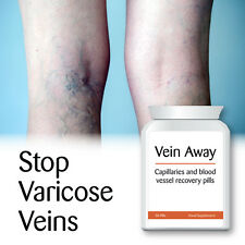 VEIN AWAY CAPILLARY & BLOOD VESSEL RECOVERY PILLS STOP VARICOSE VEINS CLEAR SKIN