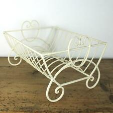 Heart plate drainer metal shabby chic vintage ivory kitchen rack sink dish
