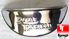 "ROYAL ENFIELD EMBOSSED CHROME PLATED HEAD LIGHT LAMP SHADE VISOR 7"" beam"