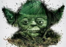 STAR WARS YODA CHARACTER FOREST ART IMAGE A4 Poster Gloss Print Laminated
