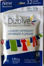 DIZOLVE WASHING POWDER SHEETS 32 WASHES PER PACK FRESH LINEN ECO-STRIPS