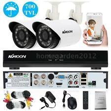 Home Security CCTV Kit 4CH 960H D1 DVR 2x 700TVL IR Weatherproof Cameras US U7E3