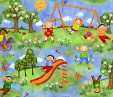 SPX FABRICS YOU ARE MY SUNSHINE CHILDREN ON THE PLAYGROUND COTTON FABRIC BTY