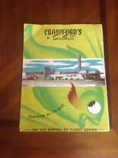 1950's Seattle, Washington State. Crawford's Sea Grill Restaurant menu!