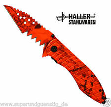 Haller Taschenmesser Feder Einhandmesser Alligator Saw - orange schwarz 83150