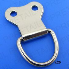25 x LARGE PICTURE D-RINGS Picture Frame Hanging Hooks NICKEL/SILVER/CHROME