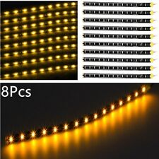 Car Light Strip Interior Atmosphere Footwell Floor Light 15 LED Universal Yellow