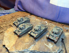 Flames Of War WW2 15mm British/Allied Matilda 2 Tank Platoon x4. Finely painted.