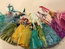 New Disney Parks Lot Of 10 Princess Dress Tulle Doll Christmas Ornament