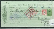 wbc. - CHEQUE - CH949 - USED -1962- MUNSTER & LEINSTER BANK, CAVAN - special