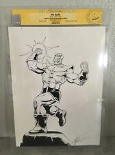 Jim Starlin Sketch Commission Thanos !! CGC SS 9x12 original artwork