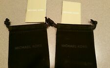 MICHAEL KORS MK VELVET JEWELRY GIFT POUCH BAG HOLDER AND MK BOOK lot of 2 New