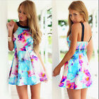 Women Sexy Summer Beach Dress Casual Sleeveless Evening Party Short Mini Dress