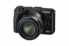 Canon EOS M3 MIRRORLESS CAMERA BODY WITH 18-55MM IS STM LENS KIT Wifi BLACK