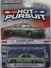 `67 Chevrolet Biscayne POLICE Glendale WI Impala 1967**Greenlight 1:64 RAR+OVP