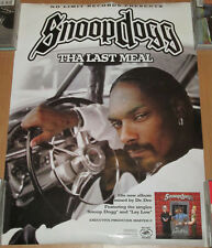 SNOOP DOGG Last Meal, Priority/No Limit promo poster, 2000, 18x24, EX, hip-hop