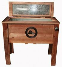 NEW Rustic Wooden 55 Quart Deck Cooler! Mountains Wood Patio Pool Party Outdoor