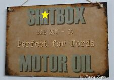 Sh*tbox Ford Oil Bold Wooden Sign - Holden Lovers Commodore Kingswood Torana Car