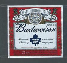 TORONTO MAPLE LEAFS BUDWEISER LABEL VERY VERY RARE ONLY ONES ON EBAY