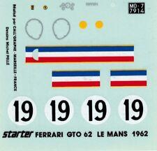 Ferrari 250 GTO Le Mans 1962 Starter Calligraphe 1:43 Decal