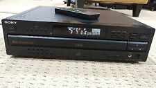 SONY CDP-CA7ES 5 Disc CD Carousel Changer/Player Works Great w/Remote