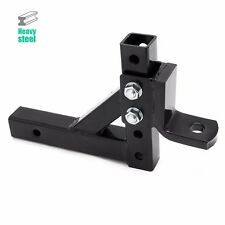 "10"" Adjustable Trailer Drop Hitch Ball Mount for 2"" Receiver Towing Hauling HD"