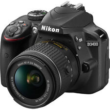 NEW Nikon D3400 24.2 MP Digital SLR Camera with 18-55mm AF-P f/3.5-5.6G VR Lens