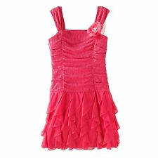 NWT Girls 7 MY MICHELLE Coral Roched Dress PRETTY ~ L@@K!